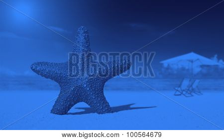 Starfish on the beach tropical nature concept
