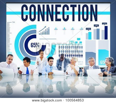 Connection Link Networking GLobal Communication Concept