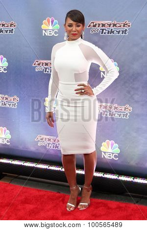 NEW YORK-AUG 11: Singer Mel B attends the 'America's Got Talent' season 10 taping at Radio City Music Hall on August 11, 2015 in New York City.