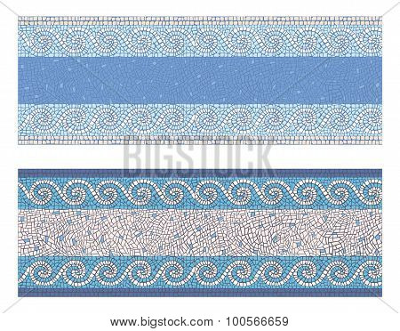 Seamless Mosaic Border In Antique Style