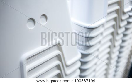 Plastic Containers In A Stack