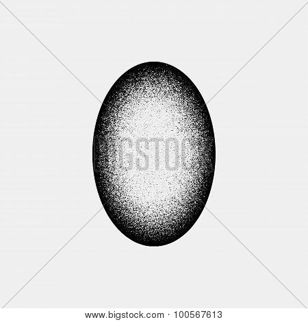 Black Abstract Ellipse Badge Template