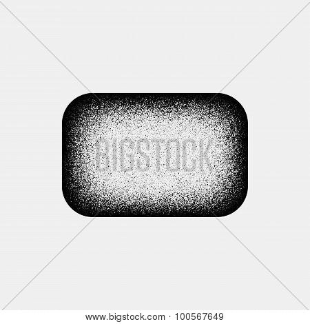 Black Abstract Rectangle Badge