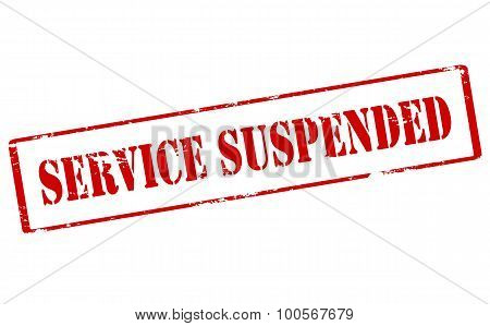 Rubber stamp with text service suspended inside vector illustration