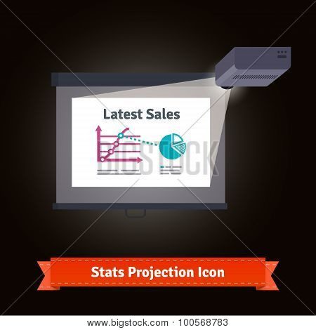 Business presentation  projector