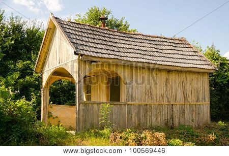 abandoned wooden house