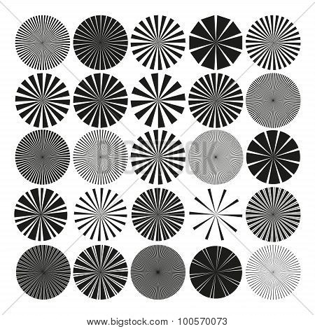 Vector Radial Pattern Graphic Collection