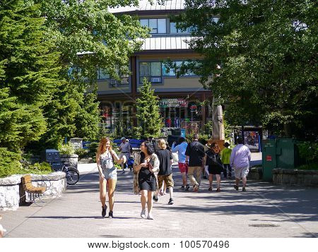 Whistler Village in Summer