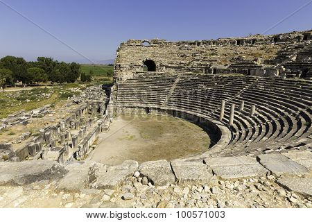 Miletus Turkish Milet Theatre View in Turkey