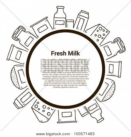 Milk products vector concept