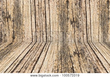 Wood Perspective Background For Room Interior