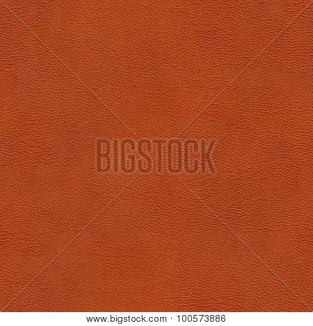 Seamless texture of natural reddish leather