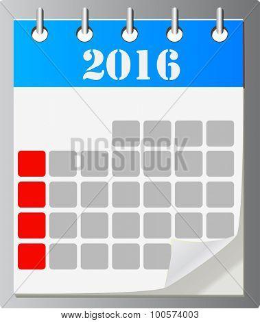 Calendar vector icon ,eps 10