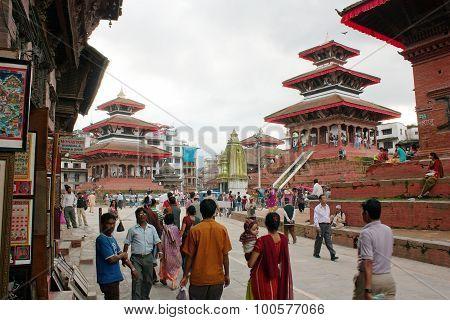 Nepalese People On Durbar Square, Kathmandu