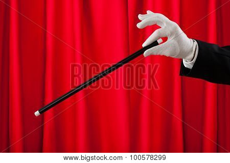Close-up Of Magician With The Magic Wand