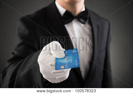 Waiter Giving Credit Card