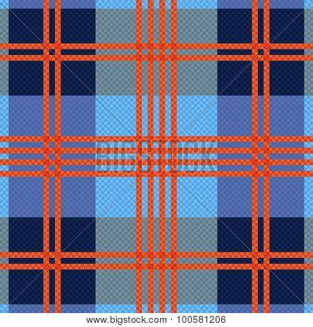 Rectangular Seamless Pattern In Red An Blue Hues