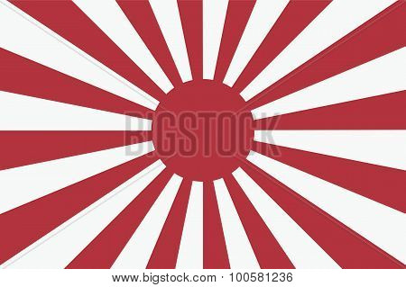 Sixteen Sun Rays Of Japanese Navy Flag 2