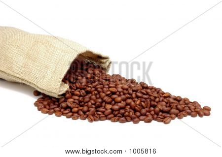 Burlap Sack & Coffee Beans