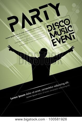 Disco Music Event, Vector