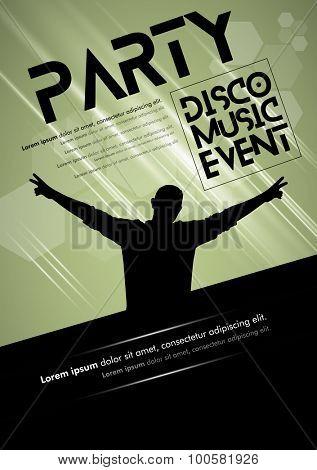 Disco Music Event, Vector