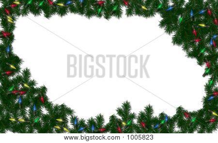 Christmas Light Frame Background