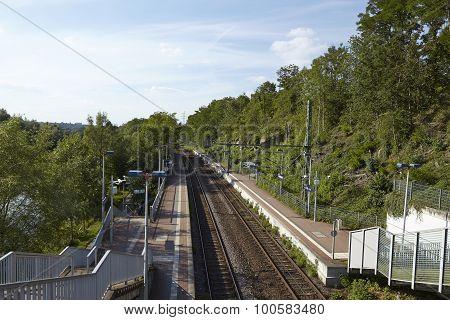 Interurban Train Station (s-bahn) Essen-holthausne (germany)