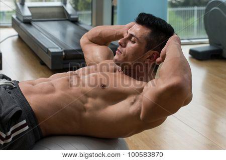 Doing Sit-ups Abdominal Crunch
