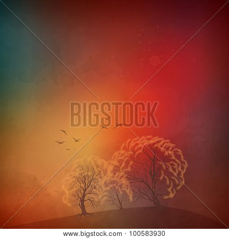 Vector autumn landscape