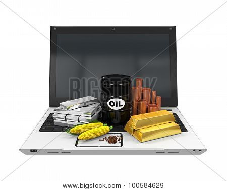 Commodities Item on Laptop