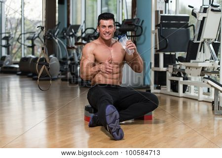 Bodybuilder Showing Thumbs Up Sign