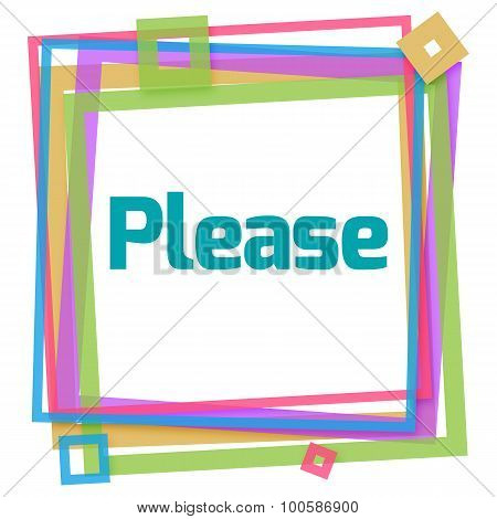 Please Colorful Frame