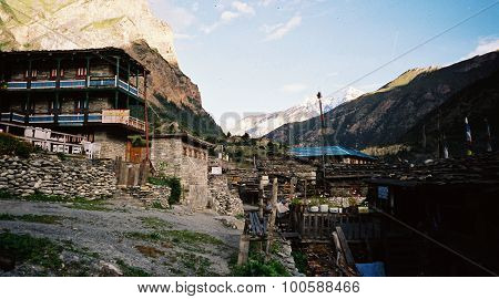 Guest house for travelers in Himalaya mountains