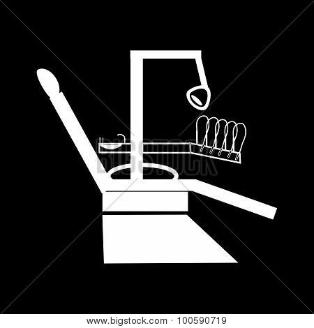 Dental chair medical technology silhouette