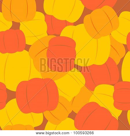 Military Texture From Pumpkins. Army Background From Halloween Symbols. Soldier Seamless Pattern Cam