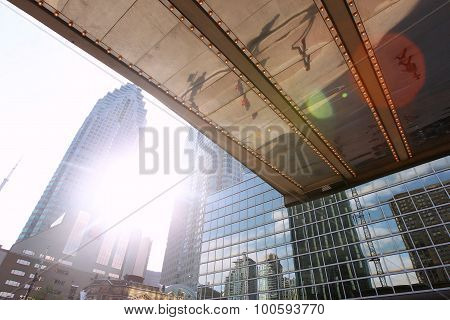 Building From Canada, Photographed From A Low Angle