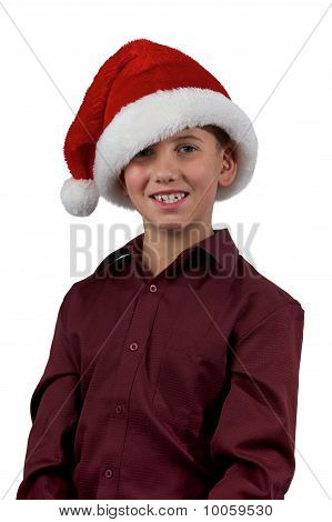 Boy And Santa Hat