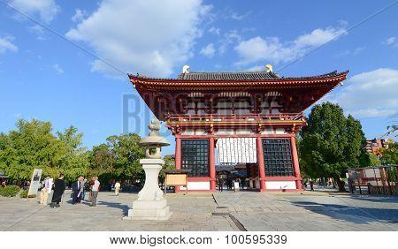 People Visit At Shitennoji Temple