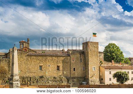 The Ancient Walls In Castiglion Fiorentino