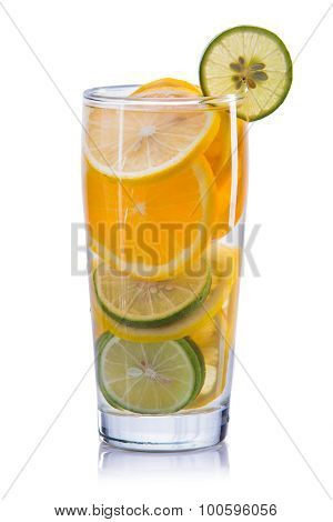 Infused Water Mix Of Orange, Lemon And Lime