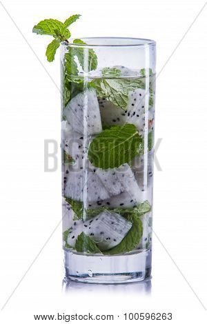 Infused Water Mix Of Dragon Fruit And Mint