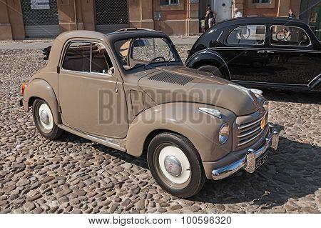 Old Italian Car Fiat 500 C Topolino (1954)