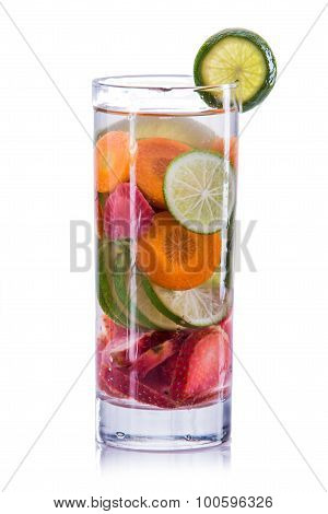 Infused Water Mix Of Carrot, Strawberry And Lime