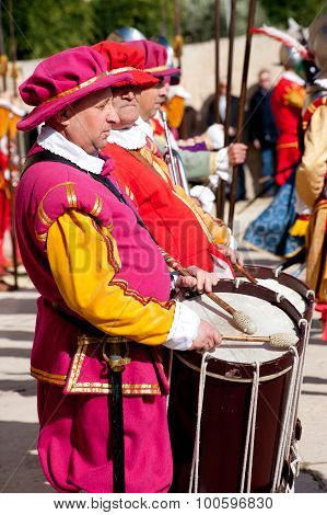 Drummer In In Guardia Parade