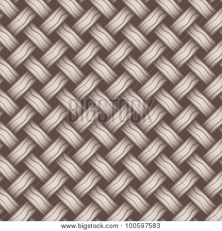 Repeating Wicker Weave Style Background Gray, Vector Format