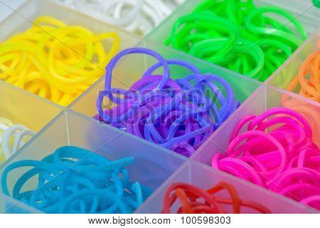 Elastic Rainbow Loom Bands