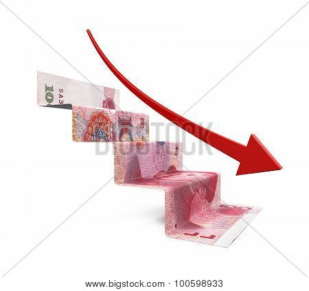 Chinese Yuan Staircase Origami
