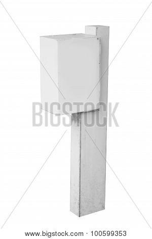 Blank Advertising Billboard Sign On White Background