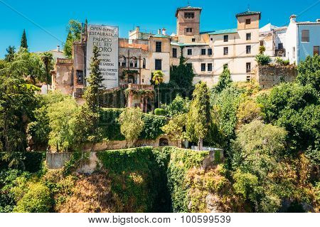 Palacio del Rey Moro and hanging gardens in Ronda, Spain.