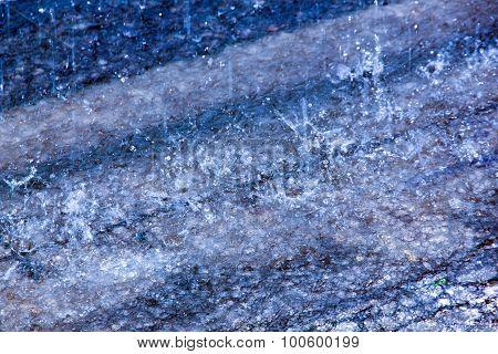 Raindrop Indentations On Wate